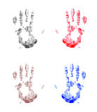 Four handprint background Royalty Free Stock Image