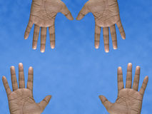 Four Hands Royalty Free Stock Images