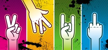 Four hands Royalty Free Stock Photography