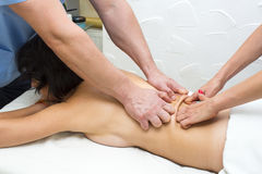 Four hands massage Royalty Free Stock Images