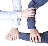 Four hands to teamwork Royalty Free Stock Image