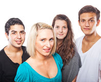 Four handsome young people royalty free stock photo