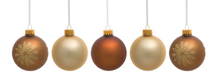 Four Hanging Christmas Ornaments Stock Photos