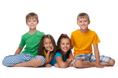 Four happy children Stock Photography