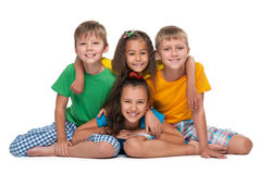 Four happy children Royalty Free Stock Photography
