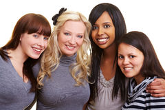 Four happy female friends Royalty Free Stock Photography