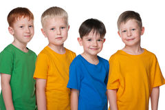 Four happy little boys Royalty Free Stock Photography