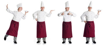 Four happy male chef Stock Image