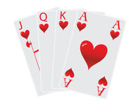 Four hart cards Royalty Free Stock Image