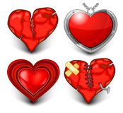 Four Heart Stock Photography