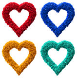 Four heart paper garland isolated. Royalty Free Stock Photos