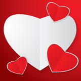 Four heart paper Royalty Free Stock Image