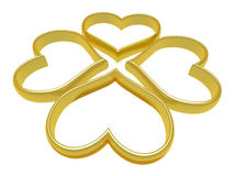 Four heart ring. This graphic is a four heart ring Stock Image
