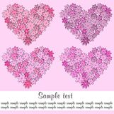 Four hearts Stock Photos