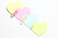 Four hearts Royalty Free Stock Images