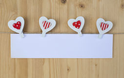 Four hearts Royalty Free Stock Image
