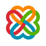 Heart logo united Stock Images