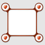 Four hearts Royalty Free Stock Photography