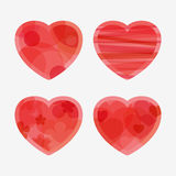 Four hearts for Valentine's Day Stock Photos