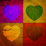 FOUR HEARTS FOR VALENTINE'S DAY Stock Image