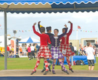 Four Highland Dancers at Nairn. Stock Photo