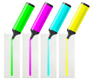 Four highlighter Stock Photography