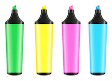 Four highlighters Royalty Free Stock Images