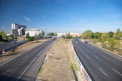 Four highways Stock Photos