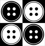 Four hole button abstract Stock Photography