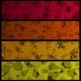 Four horizontal autumn banners Royalty Free Stock Images