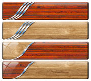 Four Horizontal Vintage And Modern Headers Royalty Free Stock Image