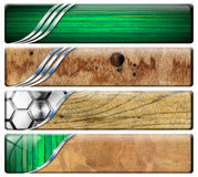 Four Horizontal Vintage and Modern Headers Stock Image