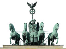 Four horse on Brandenburg gate Royalty Free Stock Images