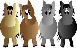 Four Horses Stock Image