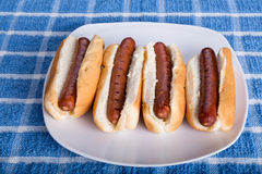 Four Hot Dogs Royalty Free Stock Image