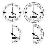 Four Hours Clock vector icon. Four Hours Clock on white background. Four o`clock. Four options.Vector illustration EPS 10 vector illustration