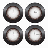 Four hours. Image of four types of hours Stock Photography
