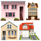 Four house designs Royalty Free Stock Photo