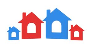 Four house icon Royalty Free Stock Images