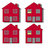 Four house illustrations Stock Images