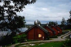 Four houses. Houses in country club Lambert, Sortavala, Karelia, Russia Royalty Free Stock Photo