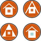 Four houses Stock Photography