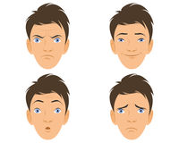Four human faces Royalty Free Stock Images