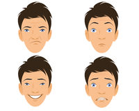 Four human faces Stock Images