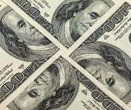 Four hundred dollar bills Royalty Free Stock Photography