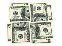 Four hundred dollar bills Royalty Free Stock Photo