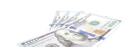 Four hundred dollar notes Stock Photography