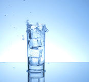 Four ice cubes Royalty Free Stock Images