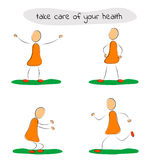 Four icon man care of your health Stock Photo