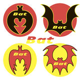 Four icons bats. On a white background Stock Photo